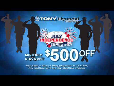 "Tony Hyundai  ""July Independence Sales Event"""