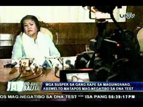 Iab Mga Suspek Sa Gang Rape Sa Maguindanao Abswelto Matapos Mag-negatibo Sa Dna Test.flv video