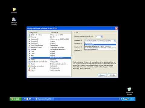 7 - Configuraci¢n de Maquina Virtual en virtual PC