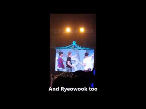 [ENG SUB] 160214 Super Junior Super Camp in Taiwan Paper kiss game