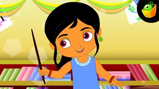 Number Song | One Two Three Four | Ginthi - Hindi Animated/Cartoon Nursery Rhymes For Kids