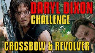 No Armor, Only CROSSBOW & REVOLVER! Daryl Dixon Challenge | PUBG
