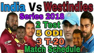 India vs West indies match schedule 2018. By sabhi knowledge channel.