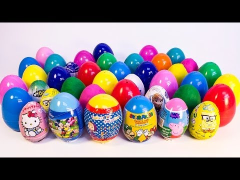 Surprise Eggs Peppa Pig Маша и Медведь Frozen Super Mario Mickey Mou
