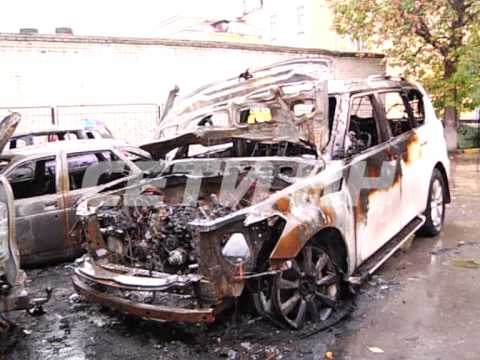 Во дворе женщины, раздавившей троих человек у в Нижнем Новгороде неизвестные сожгли все дорогие иномарки