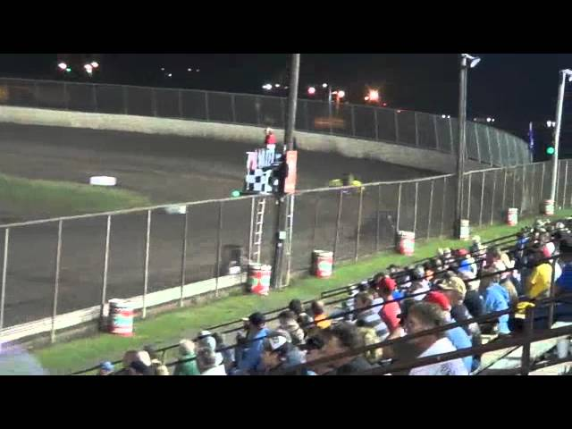 Tri City Speedway Gold Crown, USAC National Midget Series Heat #3 10-4-2012