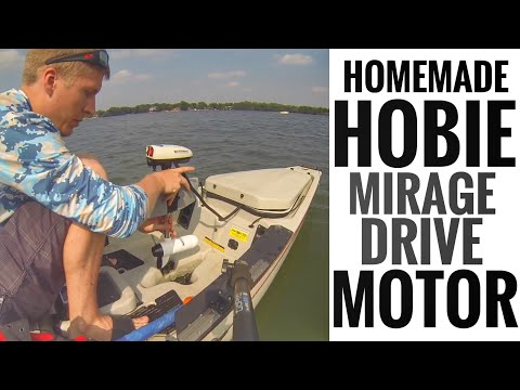 Homemade Trolling Motor for Hobie Mirage Drive Kayak