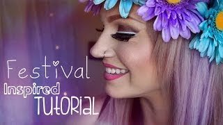 Festival Inspired & Layered Eyeliner Makeup Tutorial