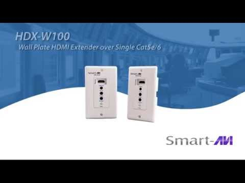 HDX-W100 - Wall Plate HDMI Extender over Single Cat5e/6