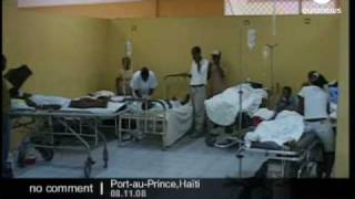 Injured Children In Port Au Prince Hospital After A Scholl Collapse