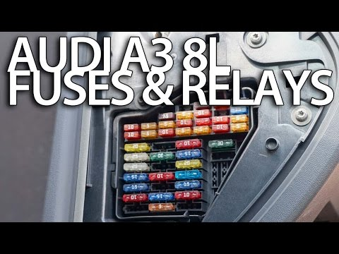 Where are fuses and relays in Audi A3 8L (fuse box)