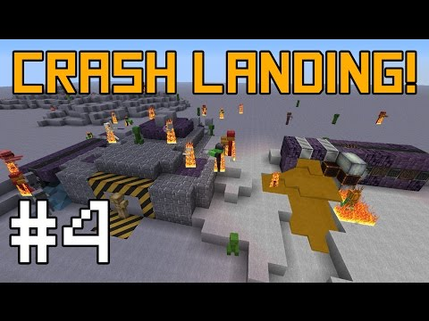 Minecraft Crash Landing - Power and Defense! #4