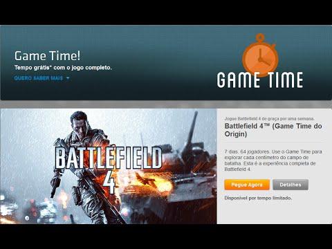 BattleField 4 de graça no origin na gametime para testar