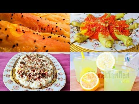 Menü 13   Kıymalı ve Patatesli Kol Böreği, Domates Soslu Biber Kızartması, Fırında Sütlaç, Limonata