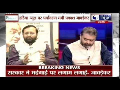 India News Exclusive interview with Prakash Javadekar