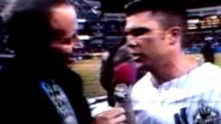 Chad Curtis Jim Gray interview 1999 World Series