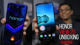 Honor View 20 Unboxing - 48MP AI Camera + Stunning Design + Surprise!