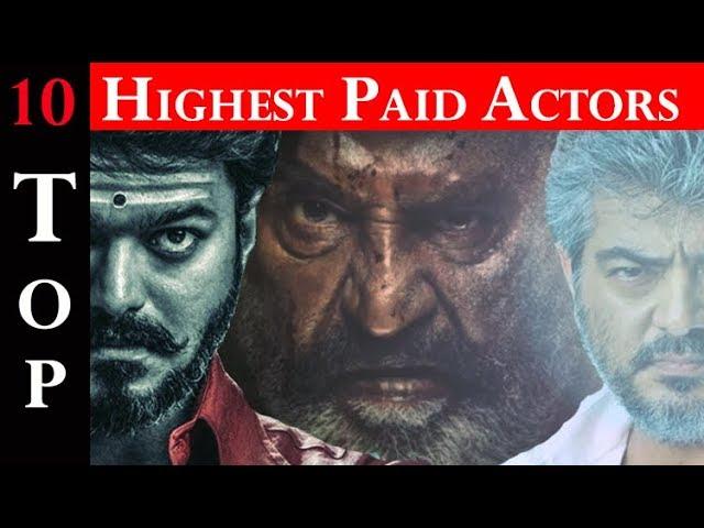 2018 Top 10 Highest Paid Tamil actors Salary | Vijay| Thala ajith| Rajini| Viswasam| Thalapathy 62
