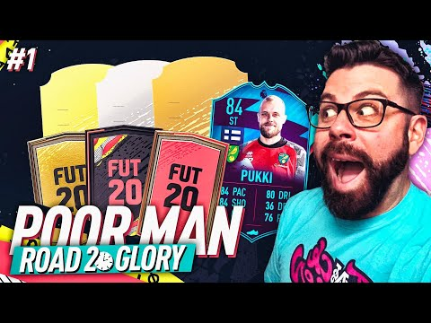 THE BEGINNING!! HARDEST RTG I WILL EVER DO! - POOR MAN ROAD TO GLORY #1 - FIFA 20 Ultimate Team