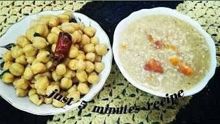 Morning quick easy & healthy breakfast recipes vlog || channa & oats kanji/soup in Tamil