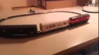 BDZ class 77 test with wagons
