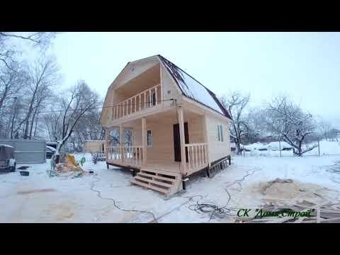 Строительство брусового дома 6х6