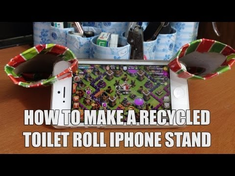 How to make a recycled toilet roll iPhone Stand