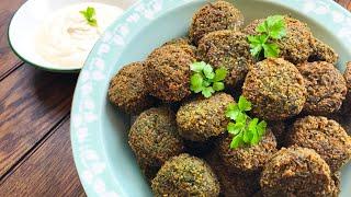 Falafels with Tahini Dip   Vegan   GF
