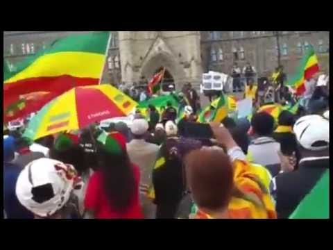 Ethiopia - Ethiopians In Ottawa, Canada Staged Protest Decrying Human Rights Crackdown In Ethiopia