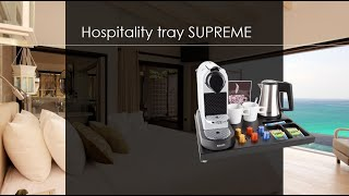 B-TRAY SUPREME with luxury storage for Nespresso machine | Welcome tray | Plateau de courtoisie