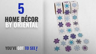 Top 10 Home Décor By Oriental [ Winter 2018 ]: 300 - Snowflake Stickers - 3 Assorted Rolls
