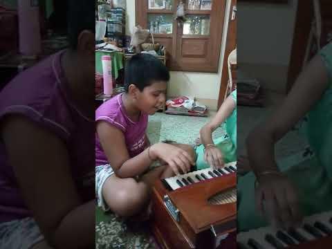 Aurodeep's first singing class -- sa re ga ma