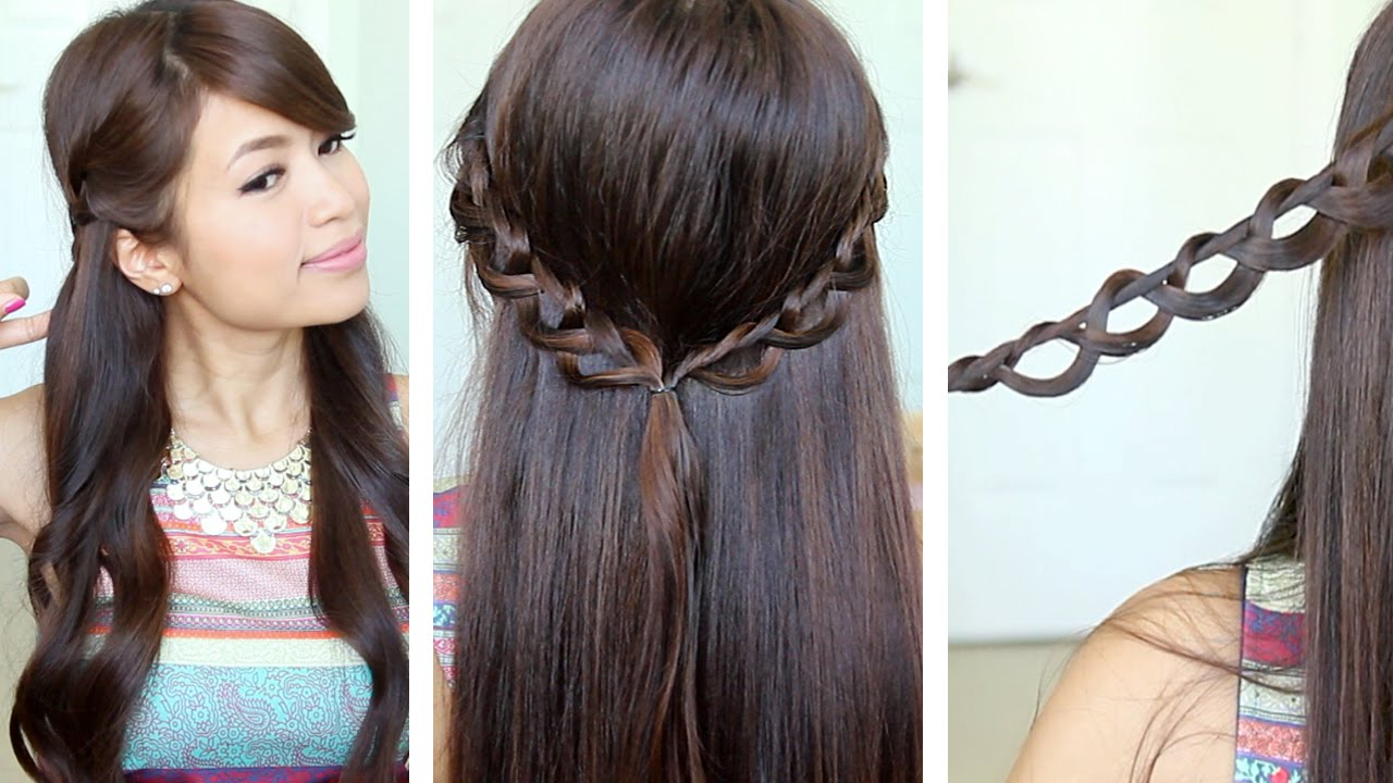 Chain Braid Headband Hairstyle For Medium Long Hair