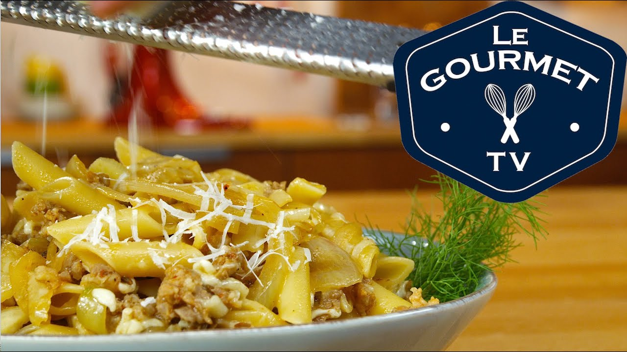 Penne with Fennel and Sausage Recipe - LeGourmetTV - YouTube
