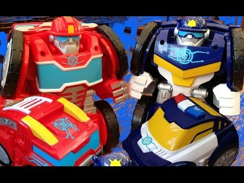 Transformers Rescue Bots Flip Changer Toys - Heatwave & Chase unboxing and review - Full Set
