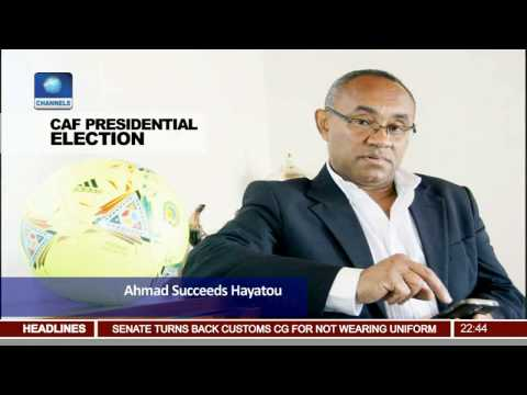 News@10: Ahmad Ahmad Ousts Issa Hayatou To Become CAF Boss 160317 Pt.4
