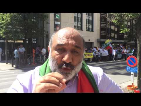 Kashmiri Human Rights Defenders Outside UN Offices in Brussels - July 20 2016