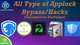 APP LOCK Hack,Bypass( WITHOUT FORCE STOP AND UNINSTALL(unsuspicious technique)