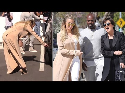 Khloe Kardashian's Car Gets Scratched While At Studio With Kris And Corey