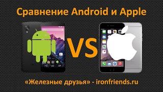 Сравнение смартфонов и планшетов с Android и iOS от Apple