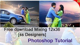 FREE PSD & How to Design ENGAGEMENT PHOTO ALBUM 12 X 36 Templates  Tutorial ss free psd#263