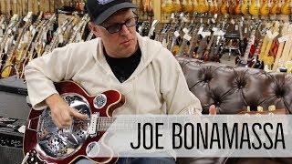 Norm Presents Joe Bonamassa With A Vincent Bell Guitar At Norman 39 S Rare Guitars