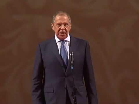 Выступление С.Лаврова на юбилее Дипакадемии