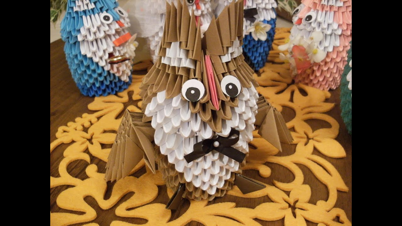 How To Make A 3d Owl Out Of Paper