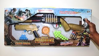 Golden PUBG Toy Gun Set Unbox & Fire Test