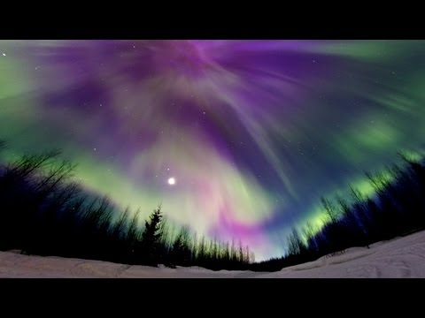 Aurora Borealis, Northern Lights, 17th of March 2013, Full HD Timelapse