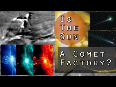 Is the Sun a Comet Factory? Powerful M 5.9 Solar Flare shows Evidence!