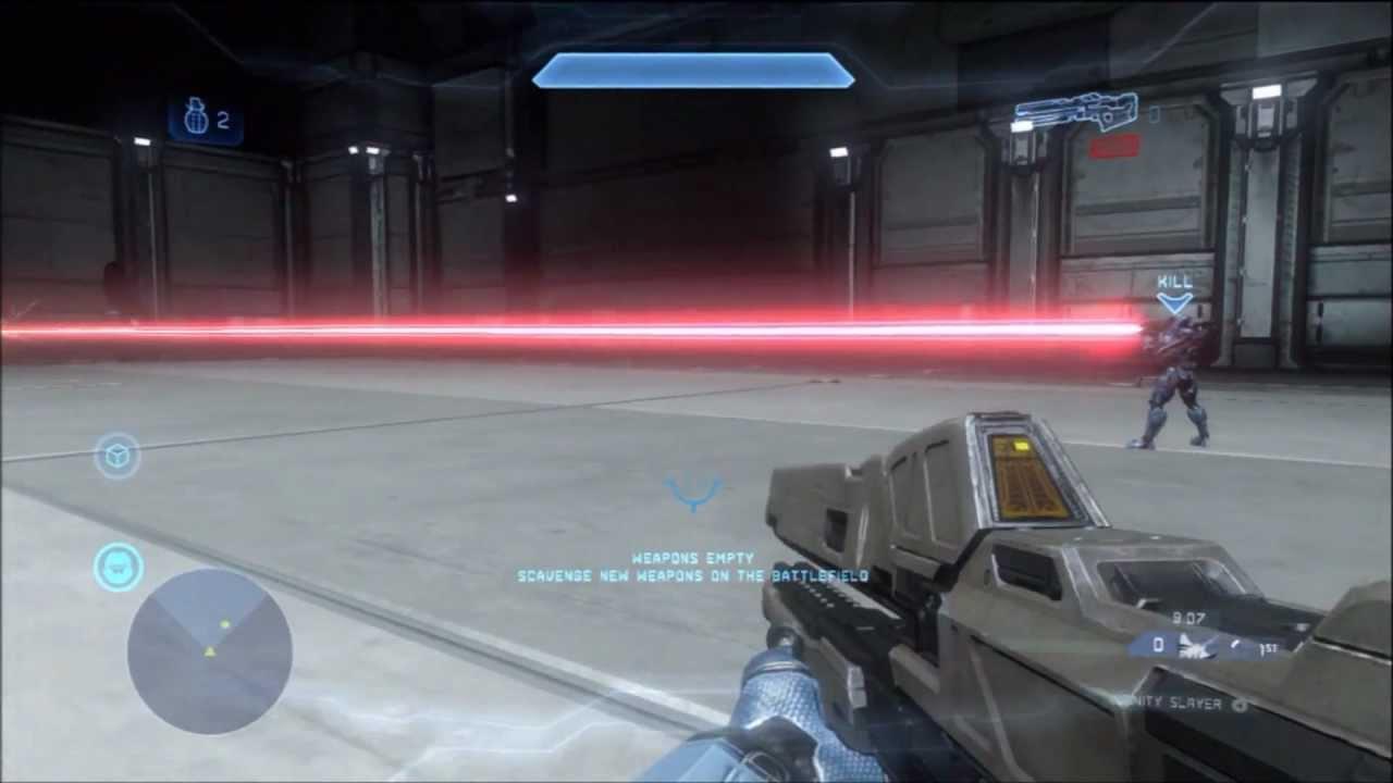 Spartan Laser Firing Halo 4 Railgun/spartan Laser