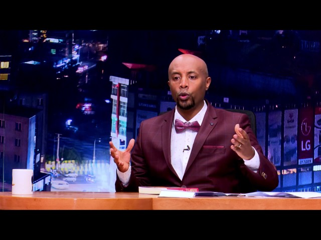 Ethiopia - Alemenor book author Dr Dawit in Seifu in EBS