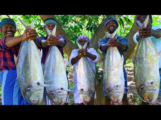 BONELESS FISH PEPPER FRY  Giant Trevally Fish Cutting amp Cooking  Easy and Simple Fish Fry Recipe